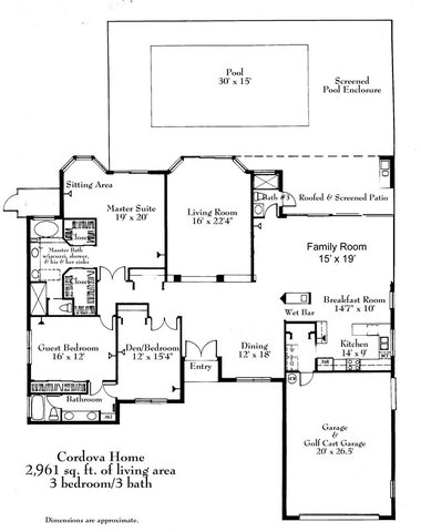 Cordova Home Harbour Ridge Yacht & Country Club palm city fl 34990 - 10 Floor Plan