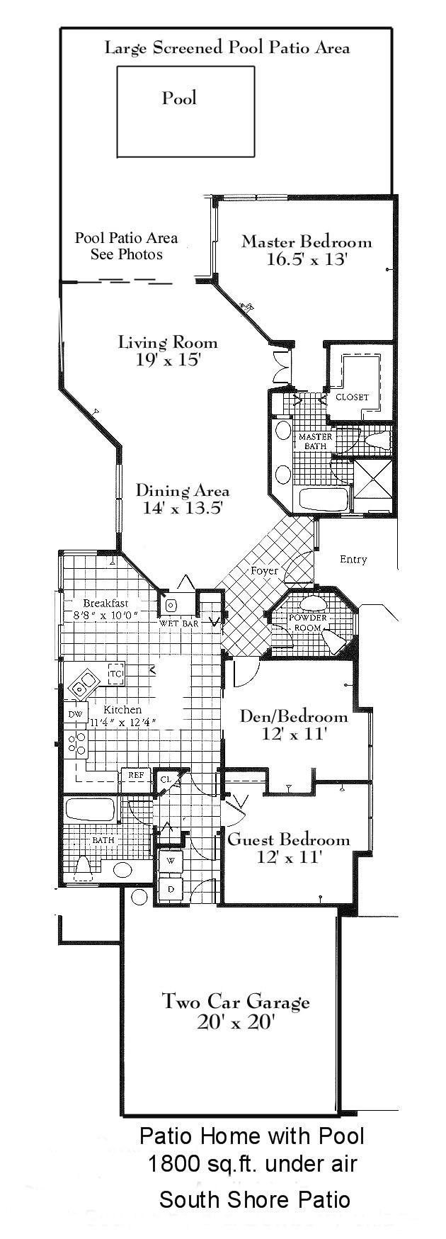 Patio home floor plans free gurus floor for Patio home floor plans free